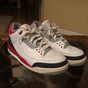 Air Jordan III's (Fire Red)